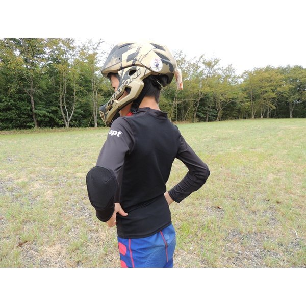 ランバイク用 パッド付きシャツ 腕カバー プロテクター付き STIN 肘当て アームカバー 胸当て apt'|asiapacifictrading|08