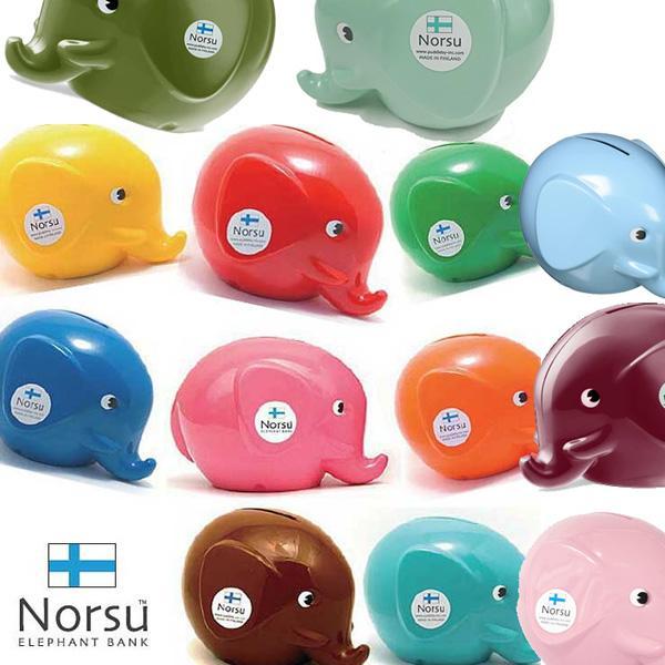 Norsu ノルス エレファントバンク Sサイズ 北欧フィンランド製 ゾウの貯金箱