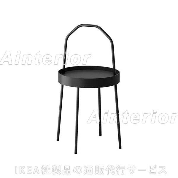 IKEA・イケアBURVIKサイドテーブル,ブラック(003.403.87)