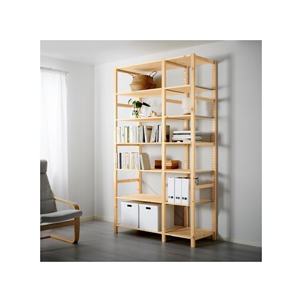 IKEA・イケア IVAR 2セクション/棚板, パイン材 (090.024.48)