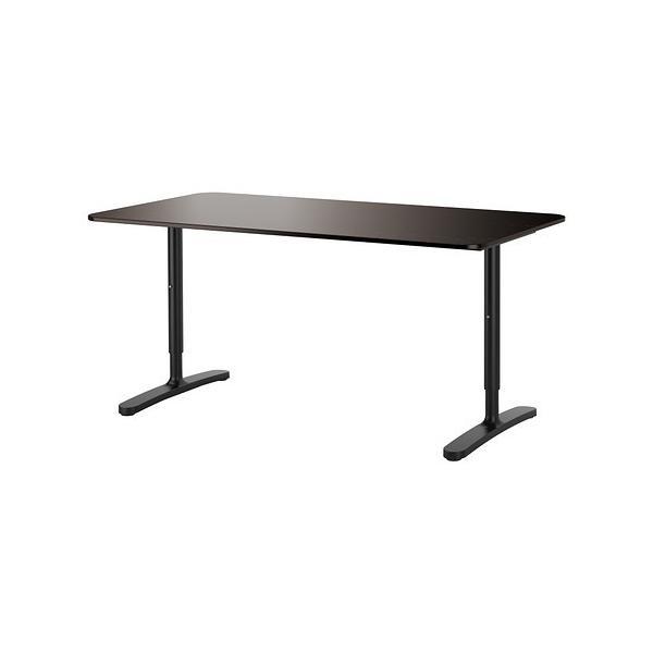 IKEA・イケア パソコンデスク・机 BEKANTデスク, ブラックブラウン, ブラック(290.227.99)