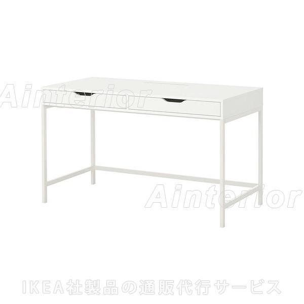 IKEA・イケア パソコンデスク・机 ALEXデスク, ホワイト(602.607.16)