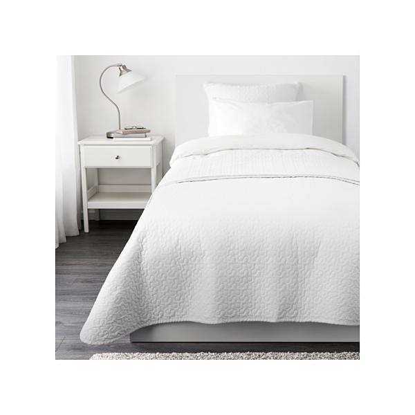 【IKEA/イケア/通販】「ベットルーム・布団」 ALINAベッドカバー&クッションカバー, ホワイト(701.626.40)