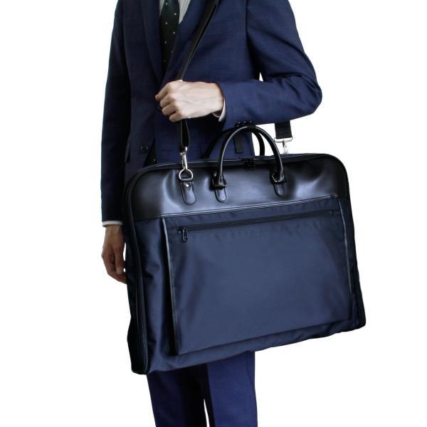 ガーメントバッグ 日本製 メンズ レディース スーツバッグ ガーメントケース ハンガー2本付き AVECALDO アベカルド AV-E109|asoboze|04