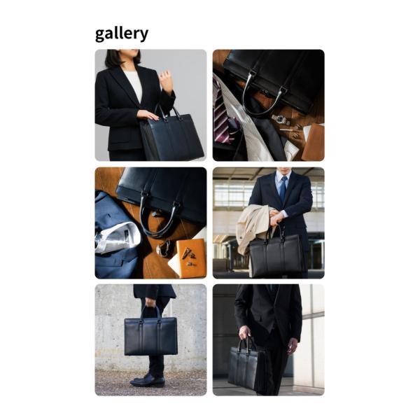 ビジネスバッグ 本革 メンズ 日本製 B4 姫路レザー 黒 グレー オーバーキップ 牛革 リントッシュ Rintosh AV-W162|asoboze|14