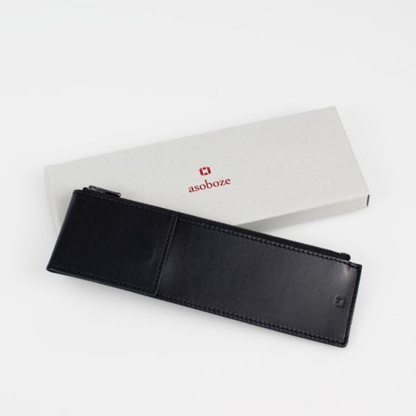 ペンケース 革 シンプル 2本差し 日本製 薄マチ スリム 革 スリムタイプ アップルペンシルケース メンズ ギフト 牛革 SK-W171|asoboze|09