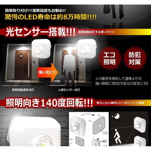 ピヴォット LED ライト 人感センサー 搭載 140度回転 寿命 80000時間 夜間 自宅 照明 万能 おしゃれ インテリア ET-PIVOLIGHT-S|aspace|04