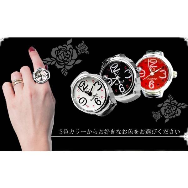 指輪時計 クロックリング リングウォッチ ステンレス サイズフリー お洒落 贈り物 プレゼント SH-NBW0RI6873|aspace|04