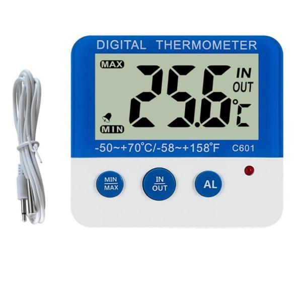 かんたん操作 高精度デジタル水温計 高温低温アラーム機能付き 水槽 水族箱 温度計 熱帯魚 最高最低温度記録 マグネット付 PETONDO