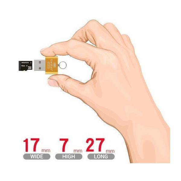 マイクロSD microSD USB カードリーダー microSDHC microSDXC SMREADER|aspace|03