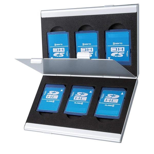 SDカードケース アルミ メモリーカード ケース SDカード用 両面収納タイプ デジカメ SDCARDCASE|aspace|03