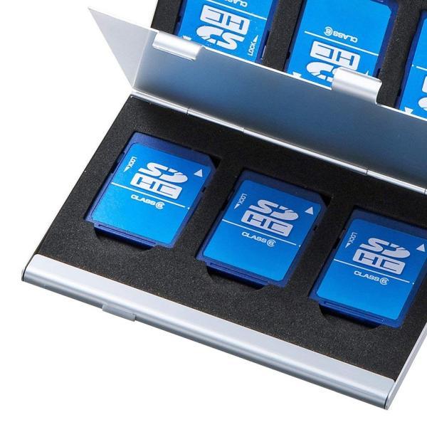 SDカードケース アルミ メモリーカード ケース SDカード用 両面収納タイプ デジカメ SDCARDCASE|aspace|04