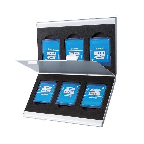 SDカードケース アルミ メモリーカード ケース SDカード用 両面収納タイプ デジカメ SDCARDCASE|aspace|06