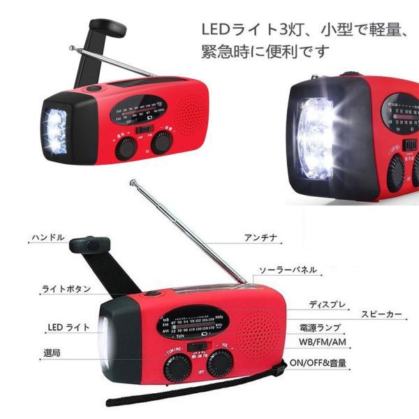 多機能防災 LED ラジオ 懐中電灯  ソーラー 充電 手回し 充電 USB充電対応 スマホ 充電 可能 日本語説明書付き 緊急用ラジオ 非常用ライト  BENRYDENKI aspace 04