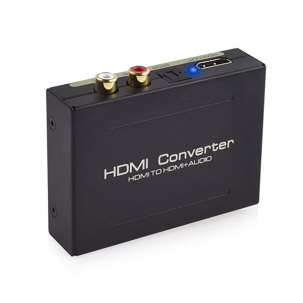 HDMI から 音声信号 赤 白 ピン端子 光デジタル 分配 SPDIF RCA オーディオ 分配器 1080p 対応 2ch 5.1ch MANIA-HD aspace 07