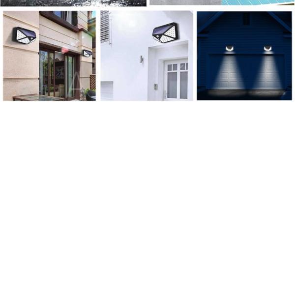 センサーライト 屋外 LED ソーラー 2個セット 人感 太陽光 防雨 防水 100LED 爆光 広範囲 センサー 広範囲 照射  防犯 照明 玄関 2-YOMESENSAR|aspace|06