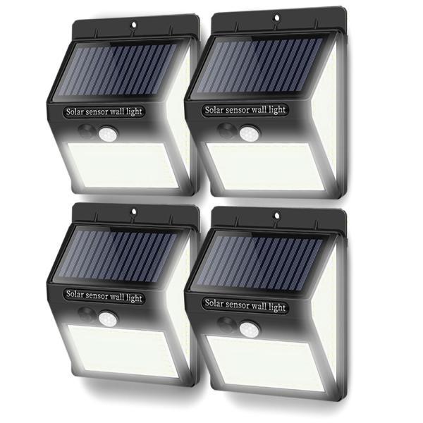 4台セット 140LED 屋外 照明 センサーライト ソーラー 人感センサー 防水 防犯ライト 3つ点灯モード 自動点灯 屋外 玄関 庭 駐車場 4-250LEDZI|aspace|06