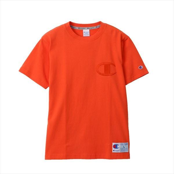 [Champion]チャンピオン Tシャツ (C3-M358)(842) オレンジシャーベット[取寄商品]