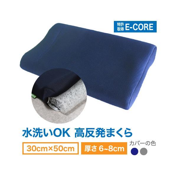 日本製 防ダニ  本体カバー も洗える E-COREピロー【M型】|assist-2019