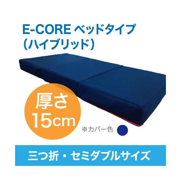 日本製 腰痛対策 高反発マットレス  E-COREベッドタイプ(三つ折)【セミダブル厚さ15cm】 assist-2019