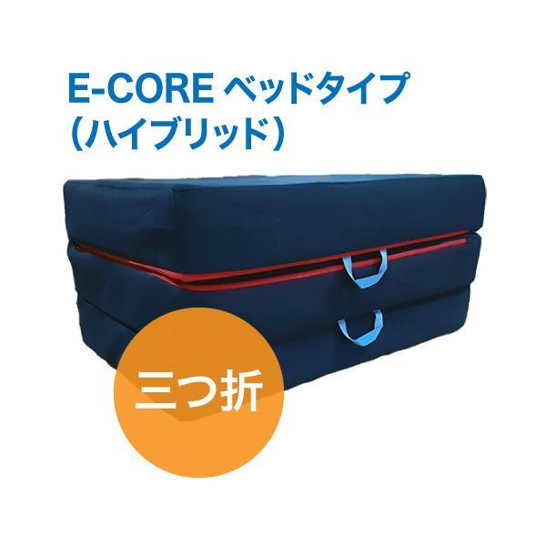 日本製 腰痛対策 高反発マットレス  E-COREベッドタイプ(三つ折)【セミダブル厚さ15cm】 assist-2019 07