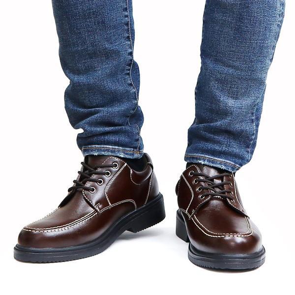ウォーキングシューズ メンズ 防水 ビジネスシューズ 紳士靴 幅広  雨の日 モックトゥ|assistant|08
