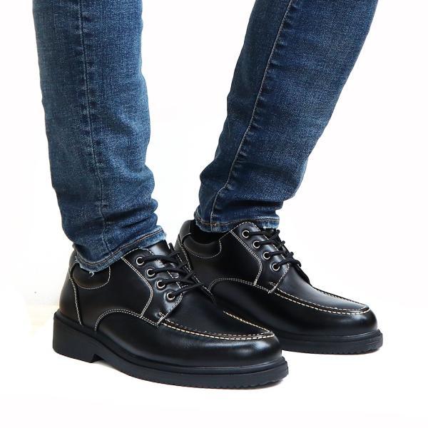 ウォーキングシューズ メンズ 防水 ビジネスシューズ 紳士靴 幅広  雨の日 モックトゥ|assistant|07