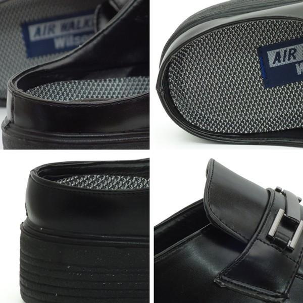 ビジネスシューズ サンダル メンズ かかとなし スリッパ 紳士靴 AIR WALKING assistant 09