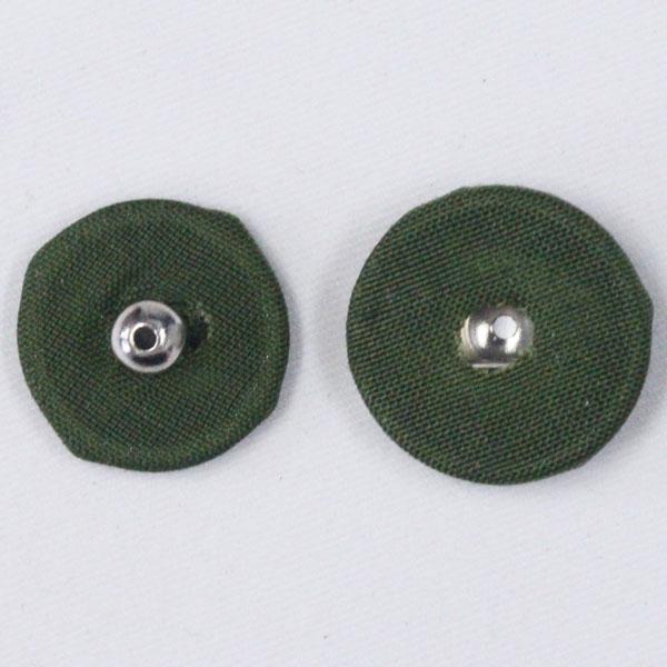 くるみスナップボタン 8mm 513(モスグリーン・N) / 6セット NO.1508  (縫い付けタイプ) ボタン 手芸 通販