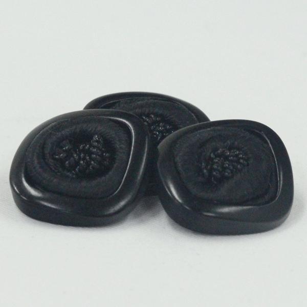 アンティークボタン 14mm ブラック コードボタン 専門店用の高級ボタン ボタン 手芸 通販