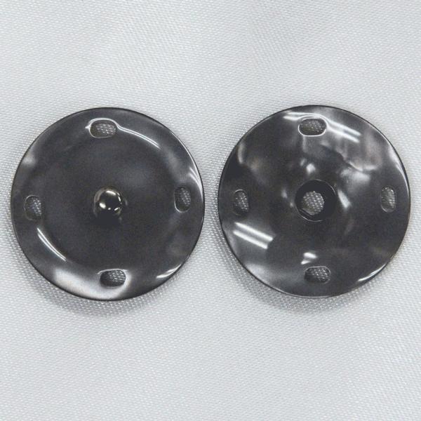 スナップボタン(貝調) 21mm 09(黒) / 1セット ASP0011  (縫い付けタイプ) ボタン 手芸 通販