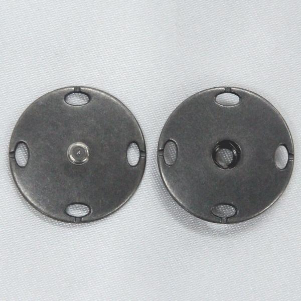 スナップボタン 23mm ASI(アンティックシルバー) / 1セット ASP0012  (縫い付けタイプ) ボタン 手芸 通販
