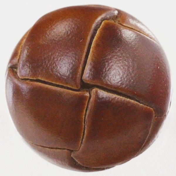 本革ボタン (うす茶) 25mm 1個入 (裏・金属足)  天然素材 (レザーボタン) AXP5639-1 (ジャケット・コート向) ボタン 手芸 通販