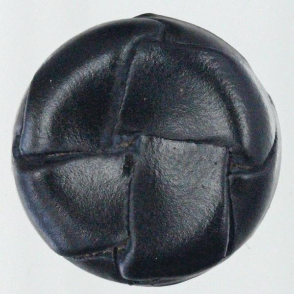 本革ボタン (黒) 25mm 1個入 (裏・金属足)  天然素材 (レザーボタン) AXP8001-5 (ジャケット・スーツ・コート向) ボタン 手芸 通販