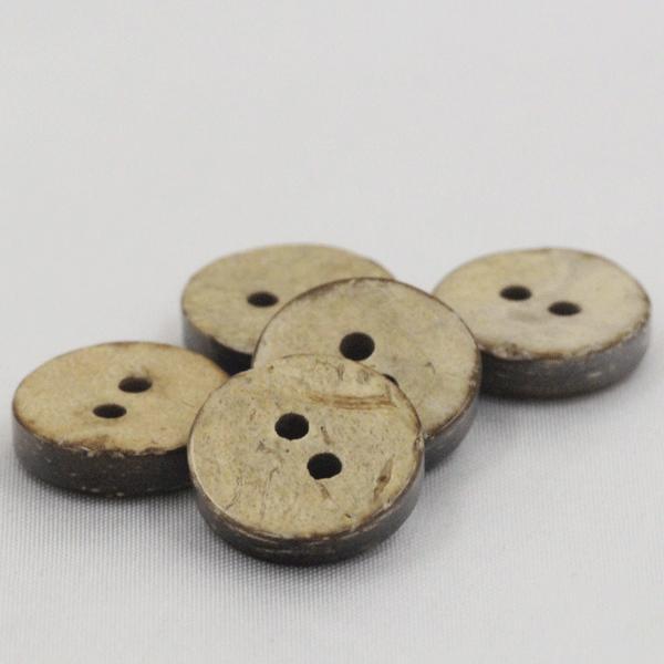 木ボタン(ウッドボタン) (ヤシ釦) 10mm 10個入 天然素材 YH101 (シャツ・ブラウス向) ボタン 手芸 通販
