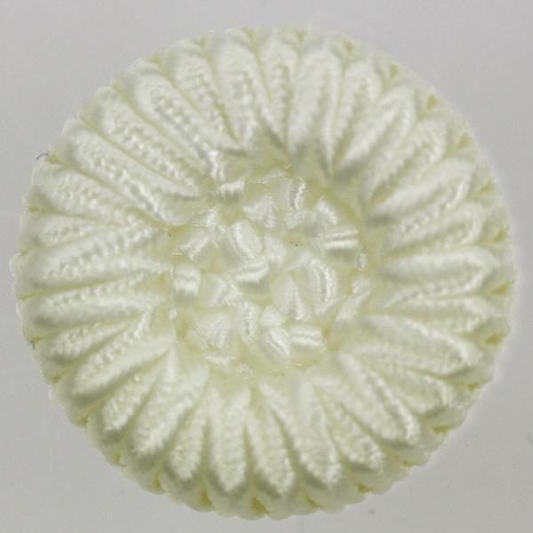 コードボタン  G9906-01(白・ホワイト) 25mm 1個入 (フォーマル向) ボタン 手芸 通販