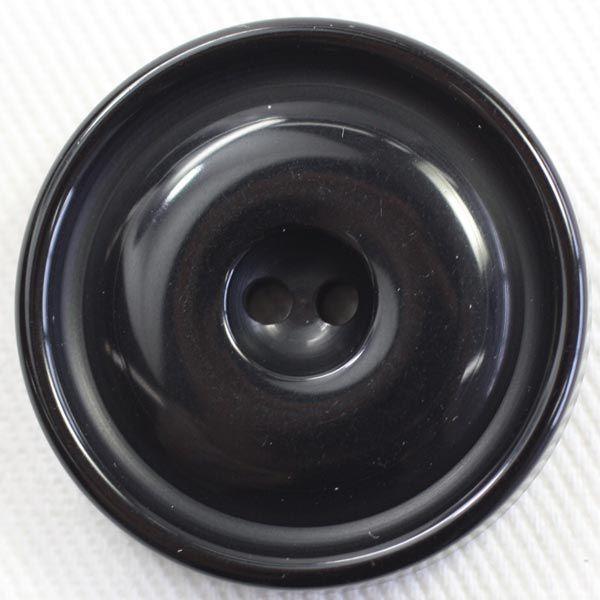 プラスチックボタン 09(黒) 18mm 1個入 (ナット調) GT71 (シャツ・ブラウス向) ボタン 手芸 通販