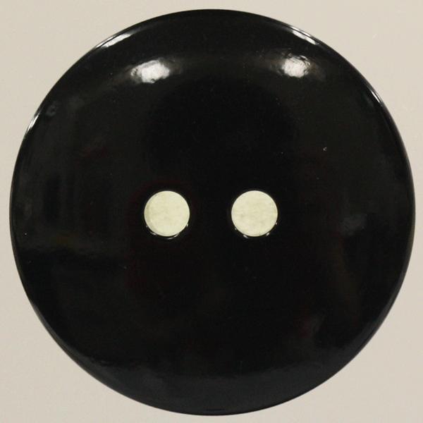 ラクトボタン (黒・ツヤ) 30mm 1個入  カゼイン素材の高級ボタン LH41-T09 (ジャケット・コート向) ボタン 手芸 通販