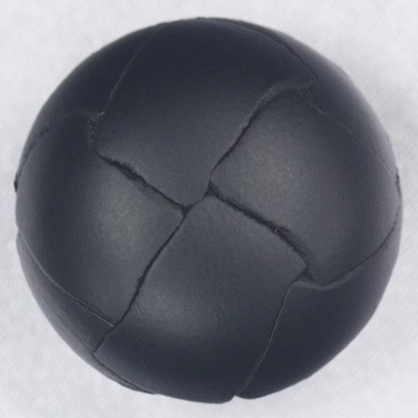 本革ボタン (黒) 29mm 1個入 (裏・革足)  天然素材 (レザーボタン) NO2100-5 (ジャケット・コート向) ボタン 手芸 通販