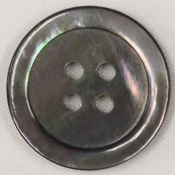 貝ボタン (黒蝶貝) 18mm 1個入 天然素材 SB17 (シャツ・ブラウス向) ボタン 手芸 通販