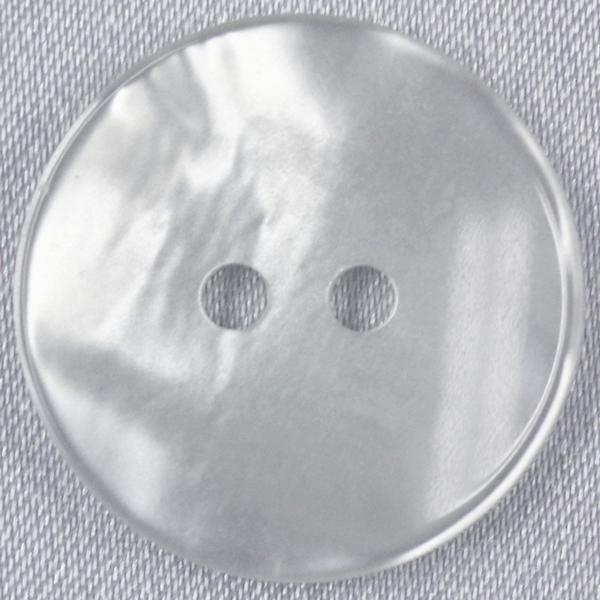 プラスチックボタン 01(白) 20mm 1個入 (貝調) SE2623 (スーツ・ジャケット向) ボタン 手芸 通販