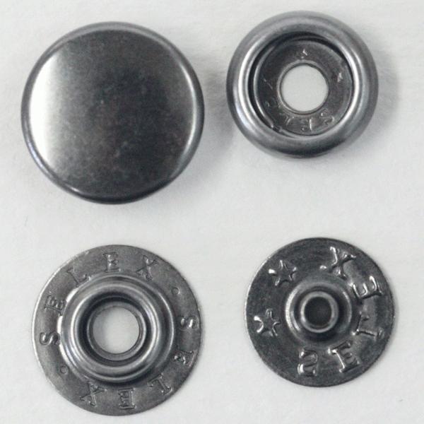 ドットボタン(ジャンパーホック)SELEX 13mm P-HBK(BN)xP-HBK(BN) キャップサイズ13mm 5セット入 しっかりした着脱感(ジャケット・コート向)
