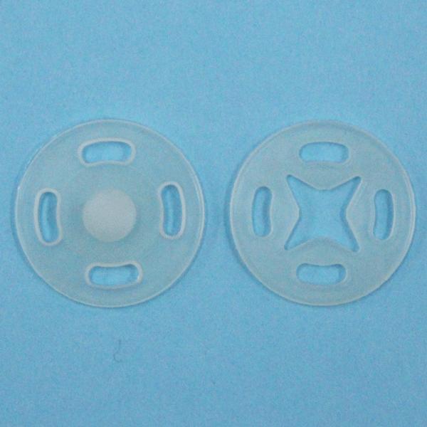 スナップボタン(薄地用 プラスチック) 7mm 透明 / 10セット入 SF-100N (縫い付けタイプ) ボタン 手芸 通販