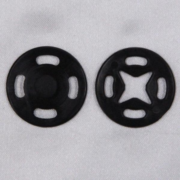 スナップボタン(薄地用 プラスチック) 15mm 黒(09) / 10セット入 SF-100N (縫い付けタイプ) ボタン 手芸 通販
