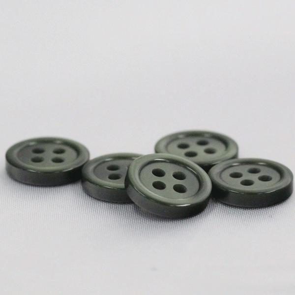 業務用シャツボタン  10mm (緑) 100個入 割れ 欠けに強いプラスチック / VSO9001-68 (シャツ・ブラウス向) ボタン 手芸 通販