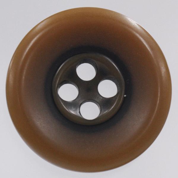 プラスチックボタン 46(茶系) 23mm 1個入 (ナット調) VT43 (ジャケット・コート向) ボタン 手芸 通販
