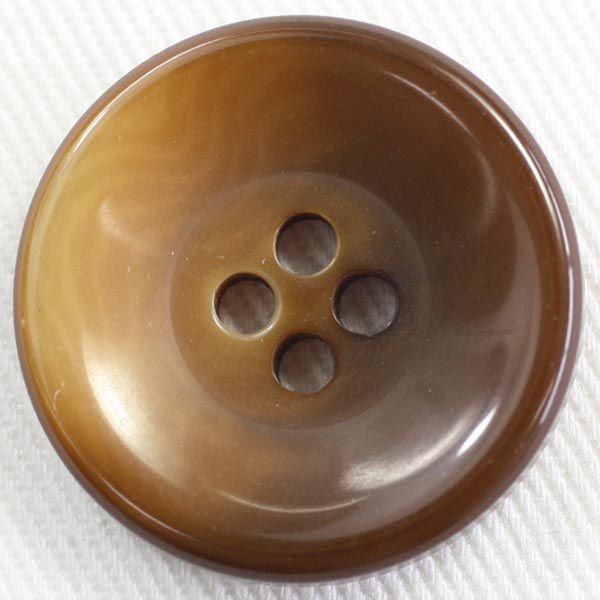 プラスチックボタン 43(茶系) 23mm 1個入 (ナット調) VT5010 (ジャケット・コート向) ボタン 手芸 通販