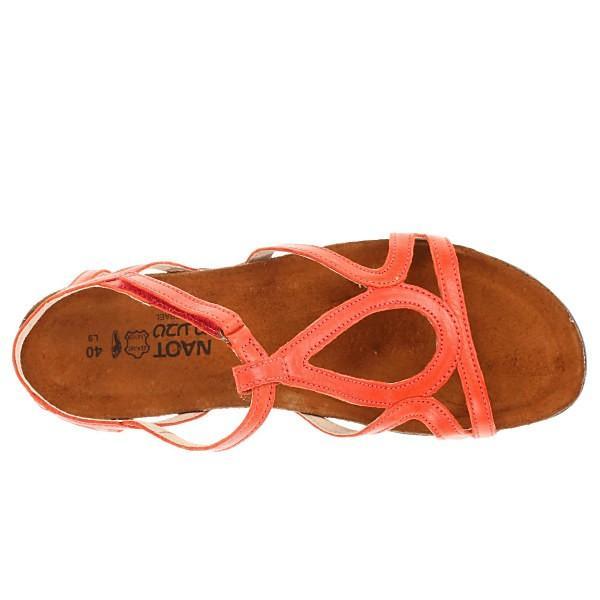 ナオトフットウェア サンダル レディース Dorith Orange Leather