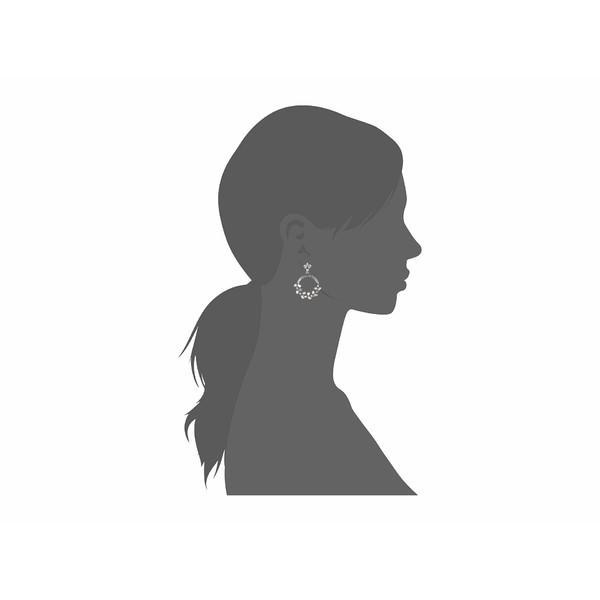 オスカー デ ラ レンタ ピアス&イヤリング アクセサリー レディース Crystal Hoop Earrings Crystal Shade/Silver