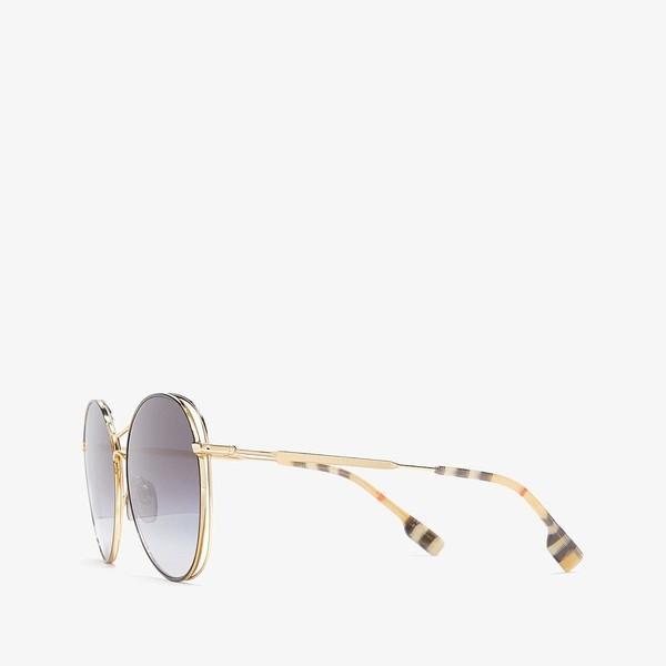バーバリー サングラス&アイウェア アクセサリー レディース 0BE3105 Gold/Black/Grey Gradient